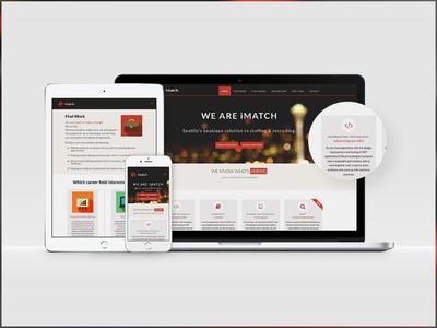 iMatch - Website & Branding seattle accounting tech recruiting web development web copywriting illustration ui ux website
