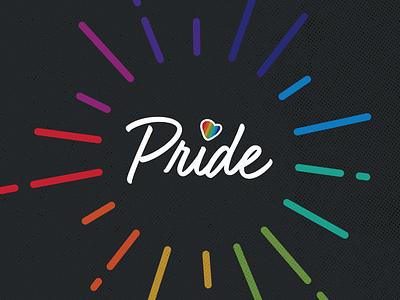 Pride Graphic colors colorful heart seattle diversity inclusion pride rainbow logo graphic design