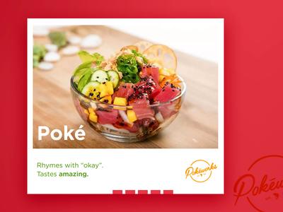 Digital and Print Ads - Poké advertising banners copywriting poke print layout ad digital