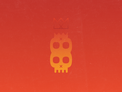 Skeleton Kings crown sunset siblings twins royalty skeleton skull gradients