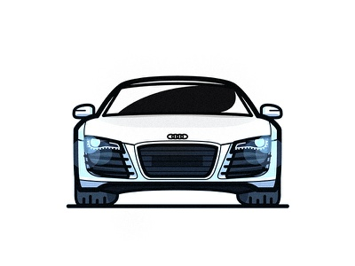 Audi R8 illustration car supercar r8 audi