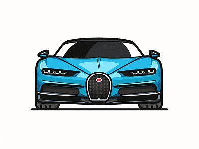Bugatti Chiron illustration car supercar chiron bugatti