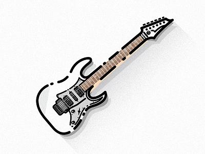 Ibanez RG illustration guitar electric rg ibanez