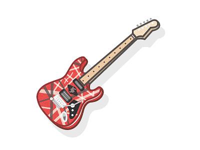 Eruption: Eddie's Guitar illustration guitar halen van eddie