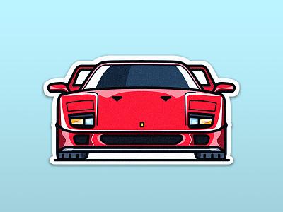 Ferrari F40: The symbol of Italy supercar italy sticker f40 ferrari