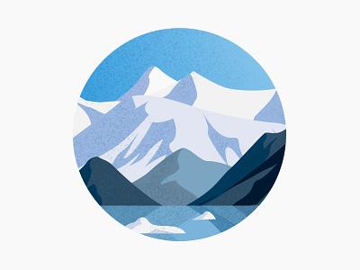 Alaska illustration glacier ice snow mountain alaska