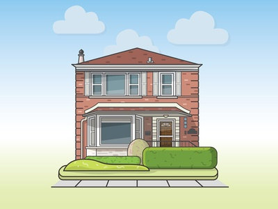 Chicago House building chicago flat illustration home house