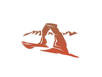 Utah mountain rock desert vector illustration arch delicate utah