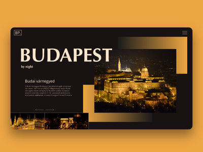Budapest by night - landing page concept dailywebdesign webdesignerslife uidesigninspiration freelancewebdesigner landingpagedesigner