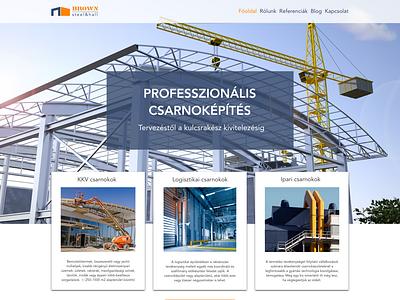 Brown Steel&Hall website design website ui branding logo design
