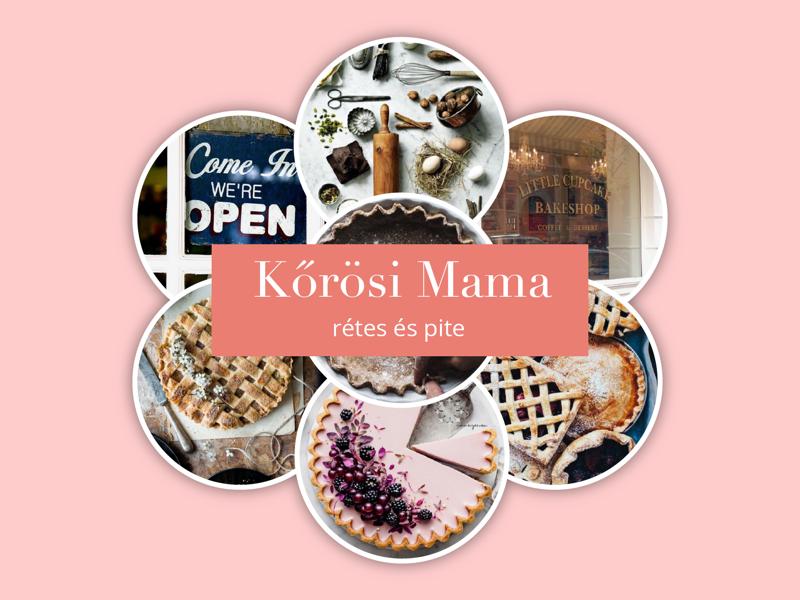 Moodboard to Kőrösi grandma's pie bar webdesign brand logo