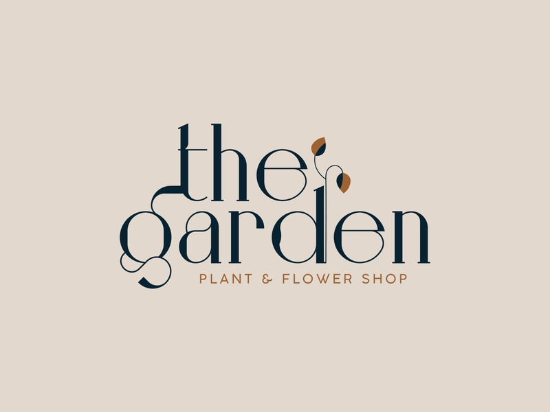 The Garden | Flower Shop Logo