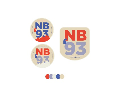NB93 Patch Designs northern typogaphy color logo typography branding patches nature patch design logo lockup logo design lockup patch