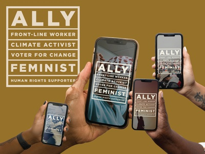 #AllHands for a better future human rights feminist frontline worker climate ally diversity allhands color palette illustrator logo typography branding design