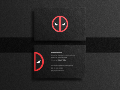 Deadpool business card