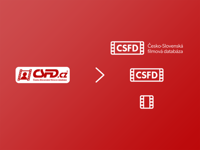 csfd.cz logo redesign | 1/4