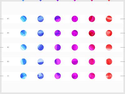 Avatar generative placeholder iterations contacs colorful ui design default color pattern geometic iterations abstract generative design algorithmic minimalistic minimal picture profile palette generative placeholder avatar
