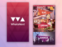 WhatsNext Splash Screen and Menu