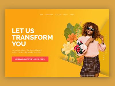 Fashion Template woman graphic design style hair fashion webdesign templaty