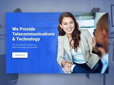 Telecommunication Business Tech Banner clean tech business telecommunication technology web design graphic design