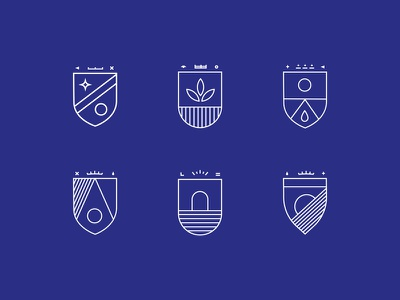 People of the Promised Land Crests logo identity design agency brand medieveal seal monoline crest