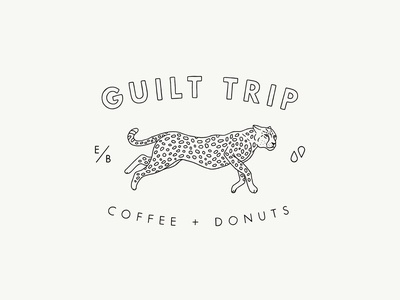 Guilt Trip Coffee + Donuts Cheetah Seal