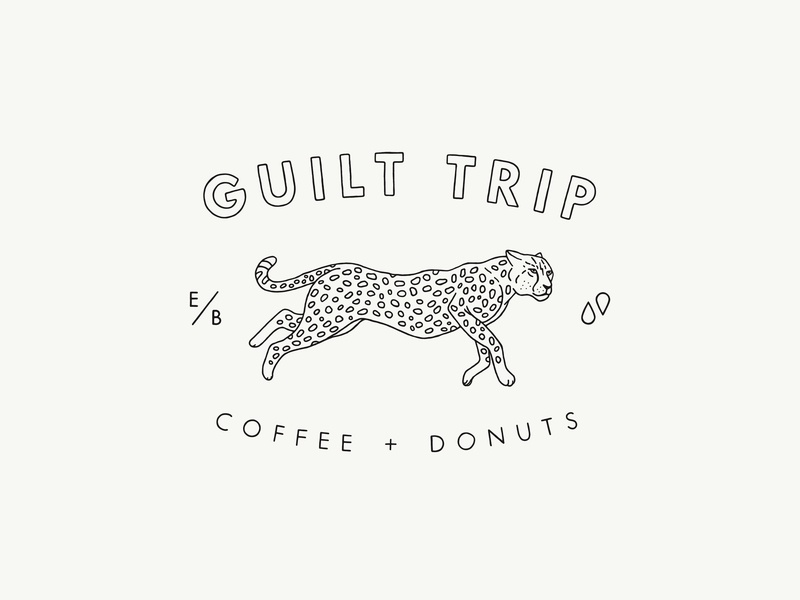 Guilt Trip Coffee Donuts Cheetah Seal By Ben Connolly On
