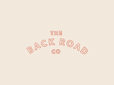 Hand-Lettered Logo for The Back Road Co.