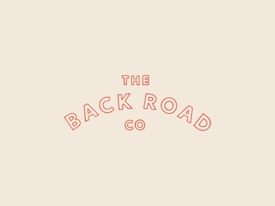 Hand-Lettered Logo for The Back Road Co. retro outline typography lettering hand illustrated vintage illustration logo design identity belfast branding