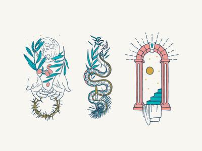 Illustrations for Carnmoney Church Series belfast vector pastel graphic design series bible christian church hand drawn illustration