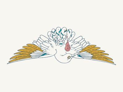 Pentecost Illustration for Carnmoney Church northern ireland belfast vector pastel illustration graphic design church branding design series church