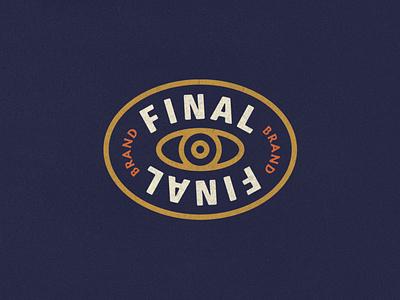 Final Final Logo side hustle eye logo branding graphic design vintage logo design