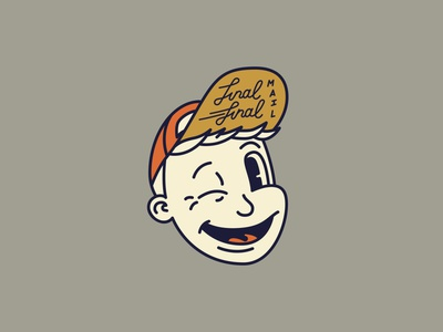 Mascot design for Final Final illustration cartoon monoline fun logo side hustle character mascot mascot design vintage design