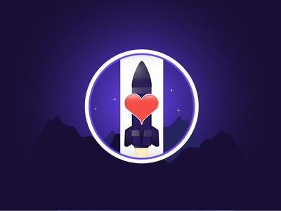 Love and Rockets stars space icon app rockets love