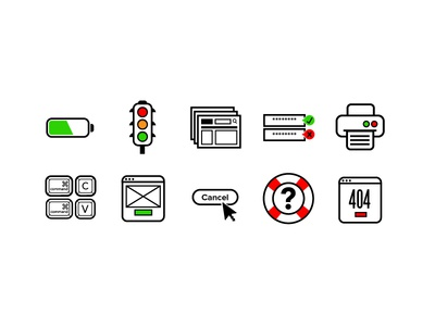 10 Usability Heuristic Icons