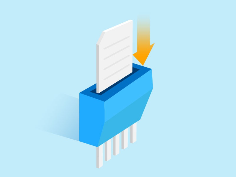 File Deletion Icon vector technology team product illustration file data icon