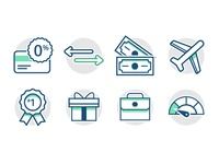 Credit Card Icons cred card travel rewards cash ux ui icon finance credit
