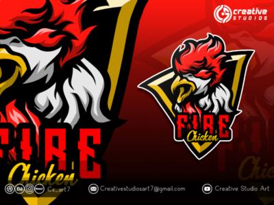 FIRE Chicken logo esport logogaming