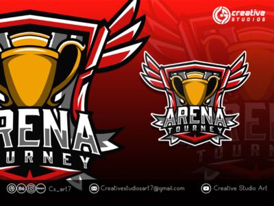 Arena Tourney Logo design logo esport