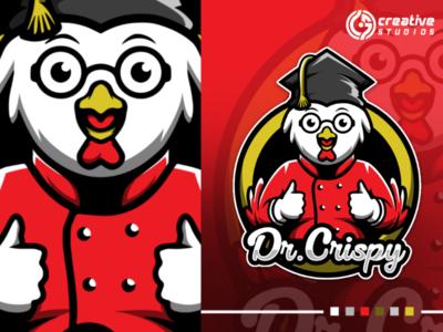 Dr. Crispy game esport logo design