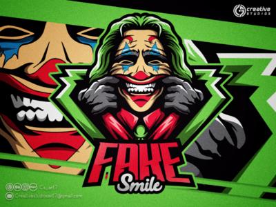 FAKE SMILE ESPORT LOGO esport logogaming logo design