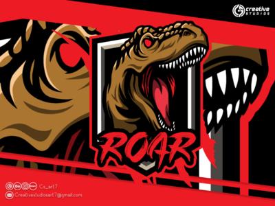ROAR ESPORT LOGO DESIGN logo esport design vector