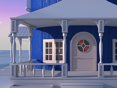 Moomin house wip 3d cinema 4d moomin mumin house architecture exterior