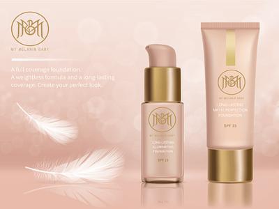 My Melanin Baby cosmetic packaging vector flat minimal design branding brand logo