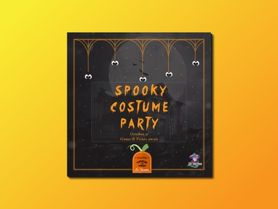 Halloween Facebook and Instagram post campaign