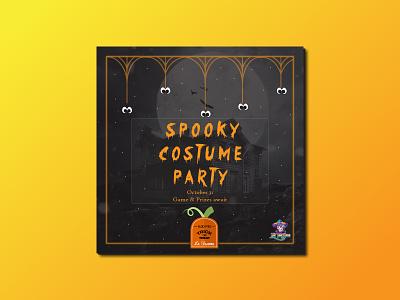 Halloween Facebook and Instagram post campaign for a restaurant spooky restaurant instagram post facebook post design facebook ad banner ad banner identity design branding