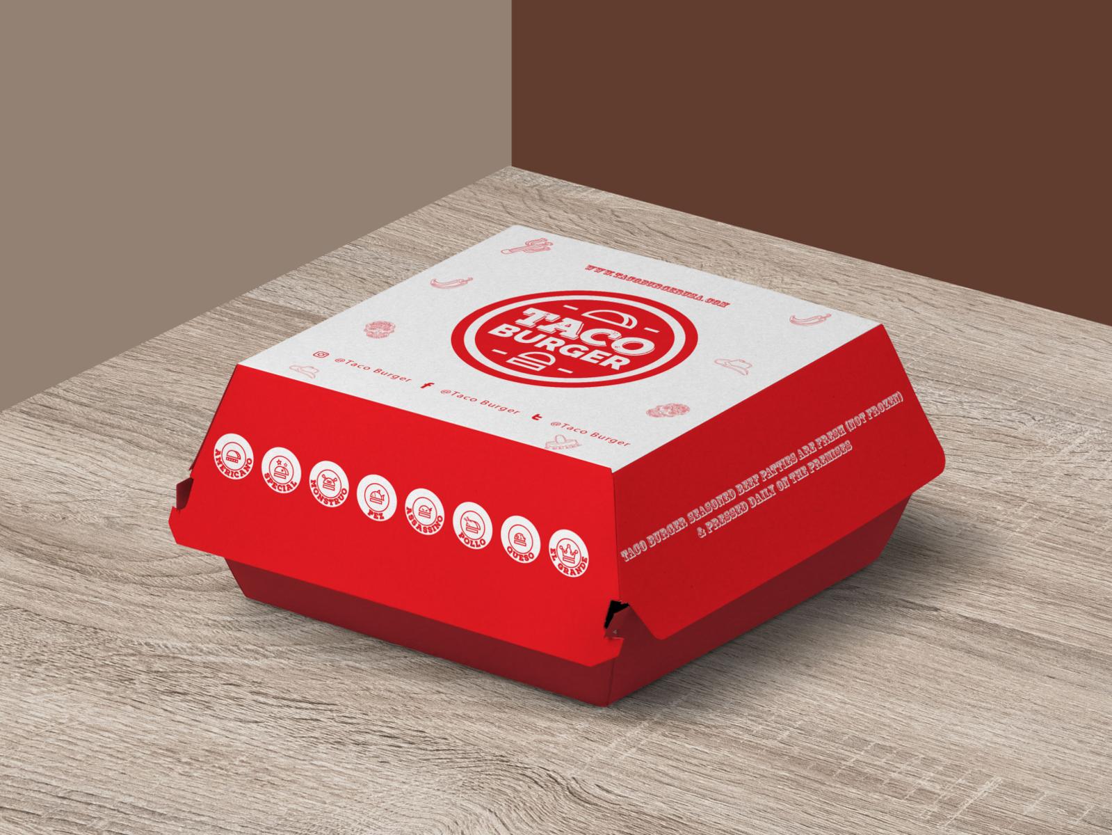 Dribbble Free Burger Packaging Mockup Psd Jpg By Musrat Jahan