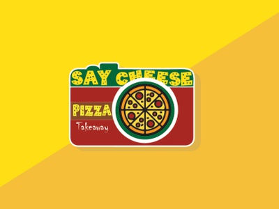 Say cheese pizza house vector sign food illustration photography cheese pizza pizza logo illustrator icons icon design iconography restaurant logo icon vector flat minimal illustration identity design branding