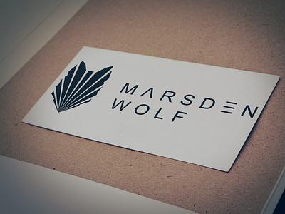 Logo for Marsden Wolf logo design logodesign logotype vector minimal flat icon typography logo illustration identity design branding