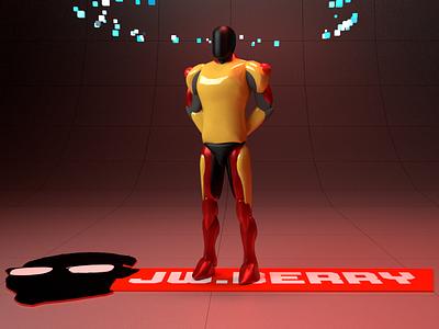 Landon Model pola red maya jw.berry digitalart digital art character design character art 3d render 3d